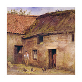 The Farmyard Giclee Print by Helen Allingham