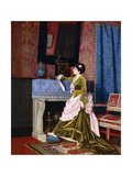 A Lady by a Fireplace, 1873 Giclee Print by Auguste Toulmouche