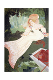 An Elegant Lady with a Dog Giclee Print by Georges de Feure