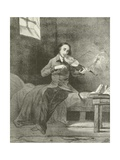 Paganini in Prison Giclee Print by Louis Boulanger