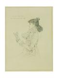 Portrait of Sarah Bernhardt, 1879 Giclee Print by Jules Bastien-Lepage