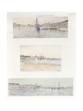Three Views of Sainte Maxime Giclee Print