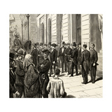 Arrival in Barcelona of General Martinez Campos Giclee Print