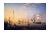 Baltimore Harbour, 1850 Giclee Print by Fitz Henry Lane