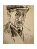 Self-Portrait, 1923 Gicleetryck av Lovis Corinth