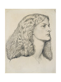 Portrait of Annie Miller, C.1860 Giclee Print by Dante Gabriel Rossetti