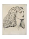 Portrait of Annie Miller, C.1860 Giclee Print by Dante Gabriel Rossetti