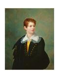 Portrait of Frederic-Napoleon Baciocchi Giclee Print by Joseph Franque