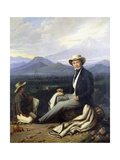 Self Portrait, 1854 Giclee Print by Edouard Pingret