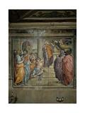 Baptism of Christ, 1538 Giclée-tryk af Francesco De Rossi Salviati Cecchino