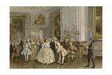 Dutch Salon, Mid 18th Century Giclee Print by Willem II Steelink