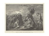 Death of General Wolfe before Quebec in 1759 Giclee Print by Benjamin West