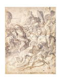 The Battle of Cosa Giclee Print by Taddeo Zuccari