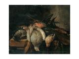 Dead Birds on a Ledge, 1651 Giclee Print by Cornelis van Lelienbergh