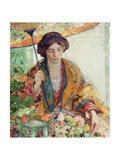 Woman with Parasol Giclee Print by Richard Edward Miller