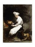 The Cook and the Cat Reproduction procédé giclée par Auguste Theodule Ribot