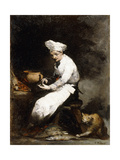 The Cook and the Cat Giclee Print by Auguste Theodule Ribot