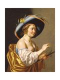A Shepherdess Giclee Print by Jan van Bijlert or Bylert