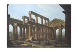 Temple of Poseidon in Paestum Giclee Print by Antonio Joli