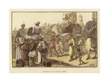 March of an Indian Army Giclee Print by Gordon Frederick Browne