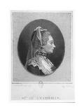 Madame De L'Espinasse, 1750 Giclee Print by Louis Carrogis Carmontelle