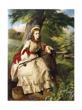 A Young Lady Fishing, 1873 Giclee Print by William Maw Egley