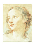 The Head of a Girl Looking to the Left Giclee Print by Charles Joseph Natoire
