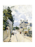 Hermitage Street, Pontoise, 1874 Giclee Print by Camille Pissarro
