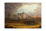 Coursing at Stonehenge, Wiltshire, 1817 Giclee Print by Samuel Spode