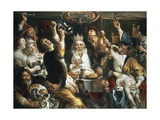 King Drinks, 1640 Giclee Print by Jacob Jordaens