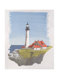 Portland Head Lighthouse, Maine, Usa, 1997 Giclee Print by Andras Kaldor