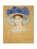 Head of a Woman with a Large Hat, C.1909 Giclee Print by Mary Cassatt