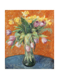 Lavender Tulips and Jonquils Giclee Print by William James Glackens