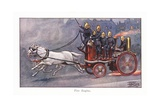 Fire Engine Giclee Print by Ernest Ibbetson