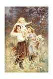 Gathering Flowers Giclee Print by Frederick Morgan