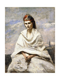 A Young Greek with a White Shawl, C.1868-70 Giclee Print by Jean Baptiste Camille Corot