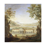 View of Roman Baths Giclee Print by Luigi Catani