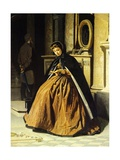 The Prayer, Ca 1865 Giclee Print by Giuseppe Abbati