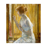 Boys Marching By, 1918 Giclee Print by Childe Hassam
