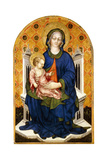 The Madonna and Child Enthroned Giclee Print by Michele Giambono