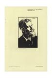 Portrait of George Bernard Shaw Giclee Print by Joseph Simpson