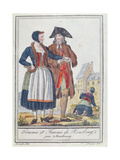 Inhabitants of Housberg, Near Strasbourg, 1796 Giclee Print by Jacques Grasset de Saint-Sauveur