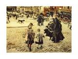 Clichy Square, Paris, 1874 Giclee Print by Giovanni Boldini