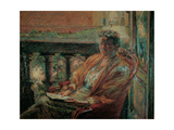 Portrait of Mrs Meta Quarck, 1910 Giclee Print by Umberto Boccioni