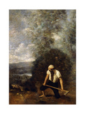 The Woodsman Giclee Print by Jean Baptiste Camille Corot