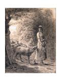 The Newborn Lamb, C.1860 Giclee Print by Jean-François Millet