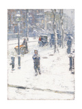 Snow Storm, Fifth Avenue, New York, 1907 Giclee Print by Childe Hassam