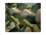 Loading a Gun in the Trenches, 1918 Giclee Print by Christopher Richard Wynne Nevinson