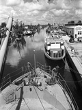Boats on the Miami River, 1948 Photographic Print