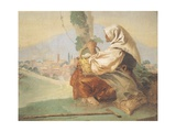 Old Peasant Lady Giclee Print by Giandomenico Tiepolo
